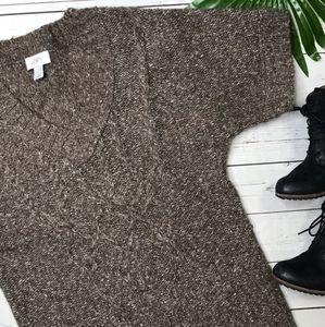 LOFT Vneck Cable Knit Sweater-M